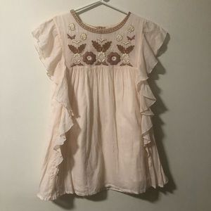 Louise Misha Embroidered Girls Dress. Size 12Y